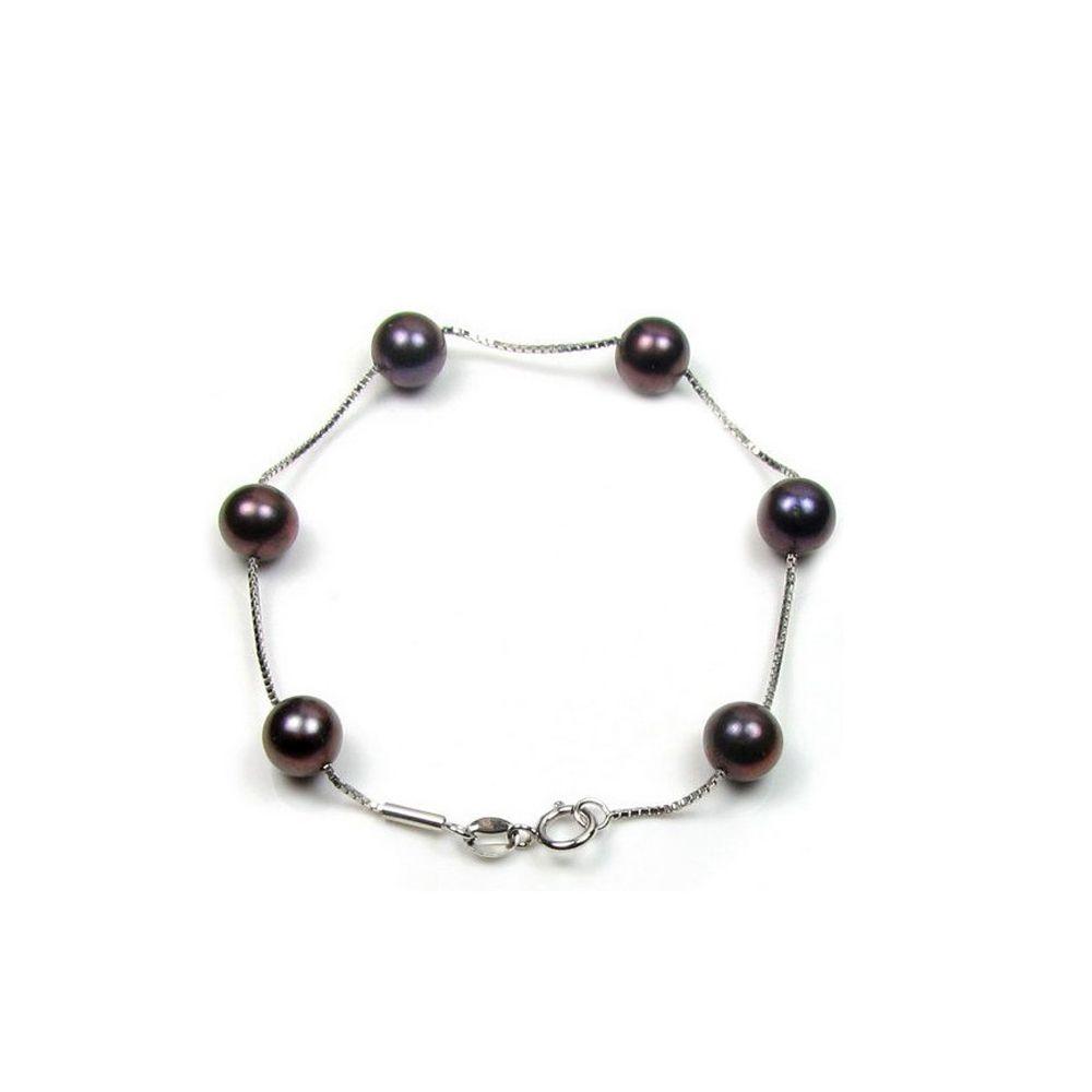 Black Freshwater Pearls Bracelet