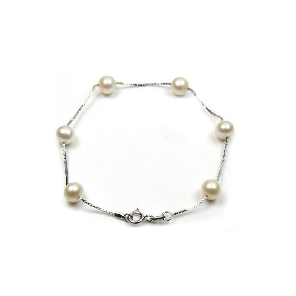 White Freshwater Pearls Bracelet