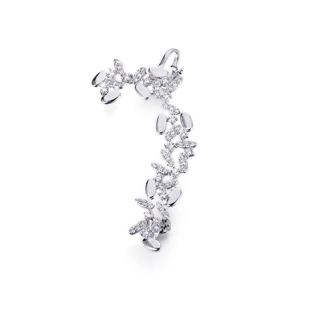 Swarovski - White Swarovski Crystal Elements Ring Earring and Rhodium Plated