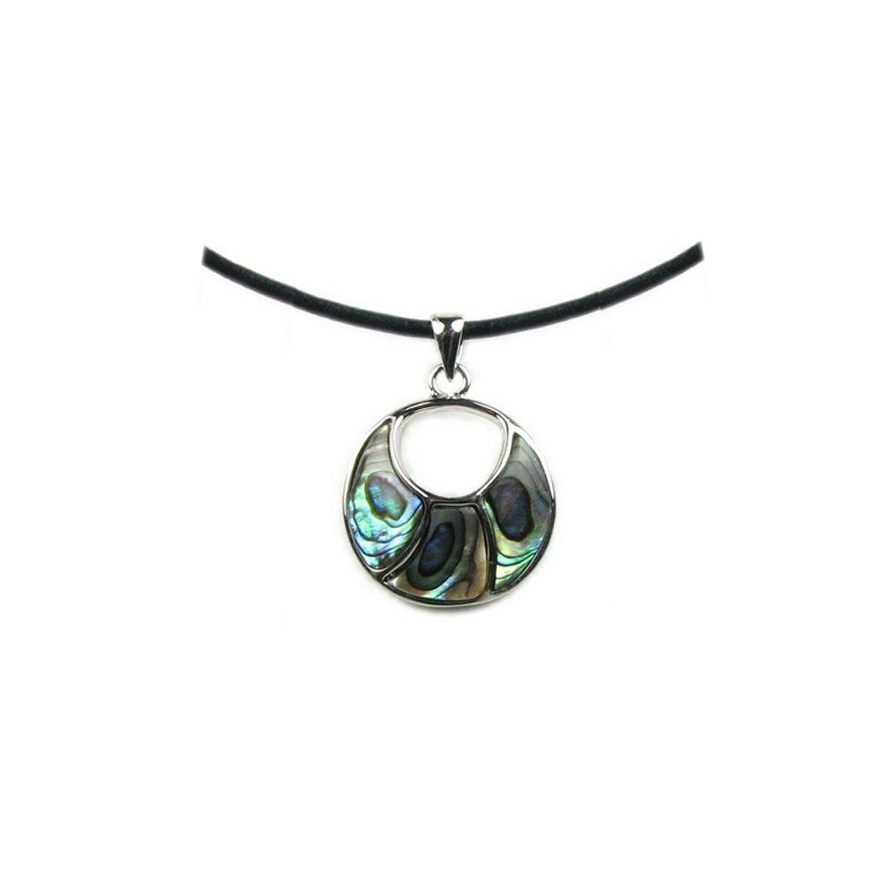 Abalone Circle Pendant