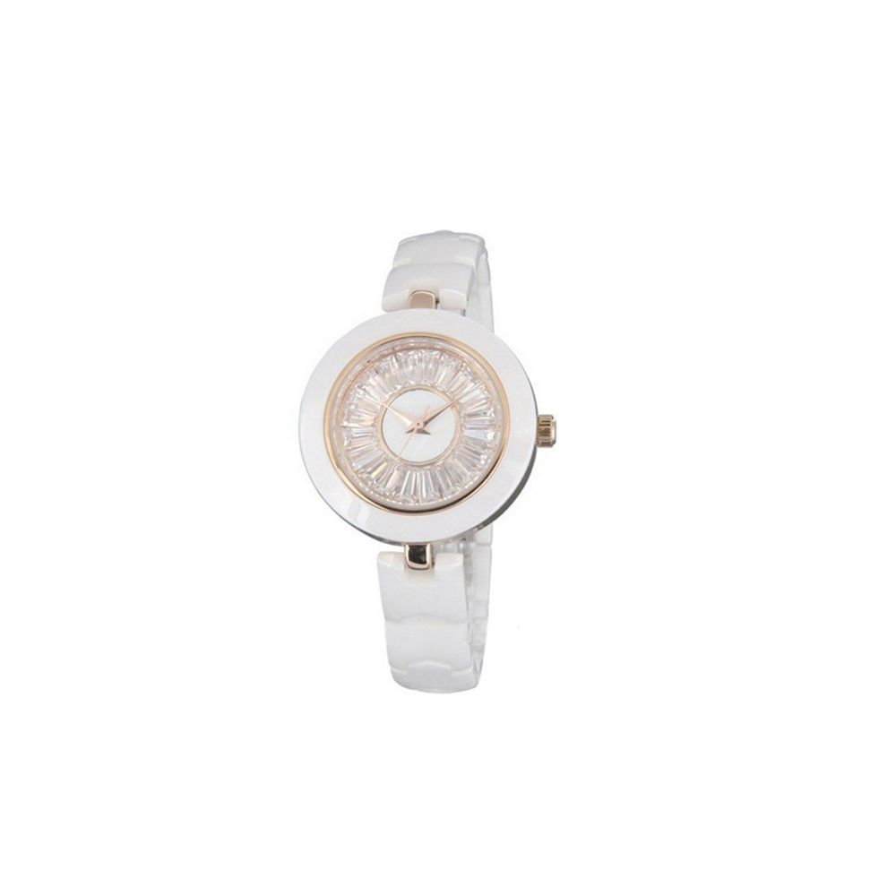 White Ceramic Watch and White Crystal
