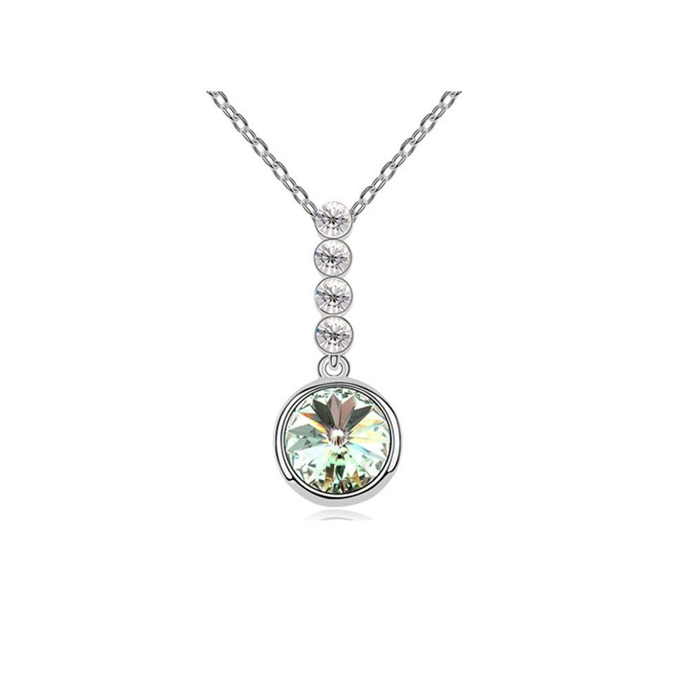 Swarovski - Green Swarovski Element Crystal Circle Pendant