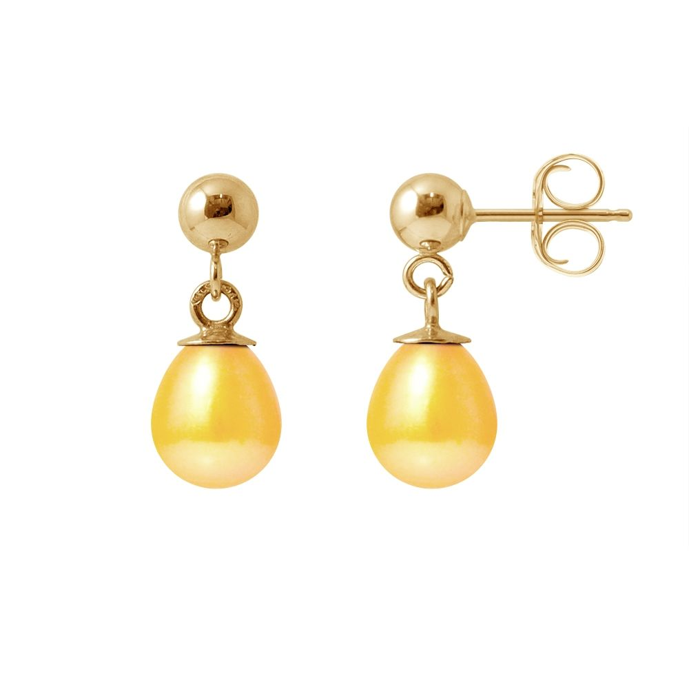 Gold Freshwater Pearls Earrings and yellow gold 750/1000