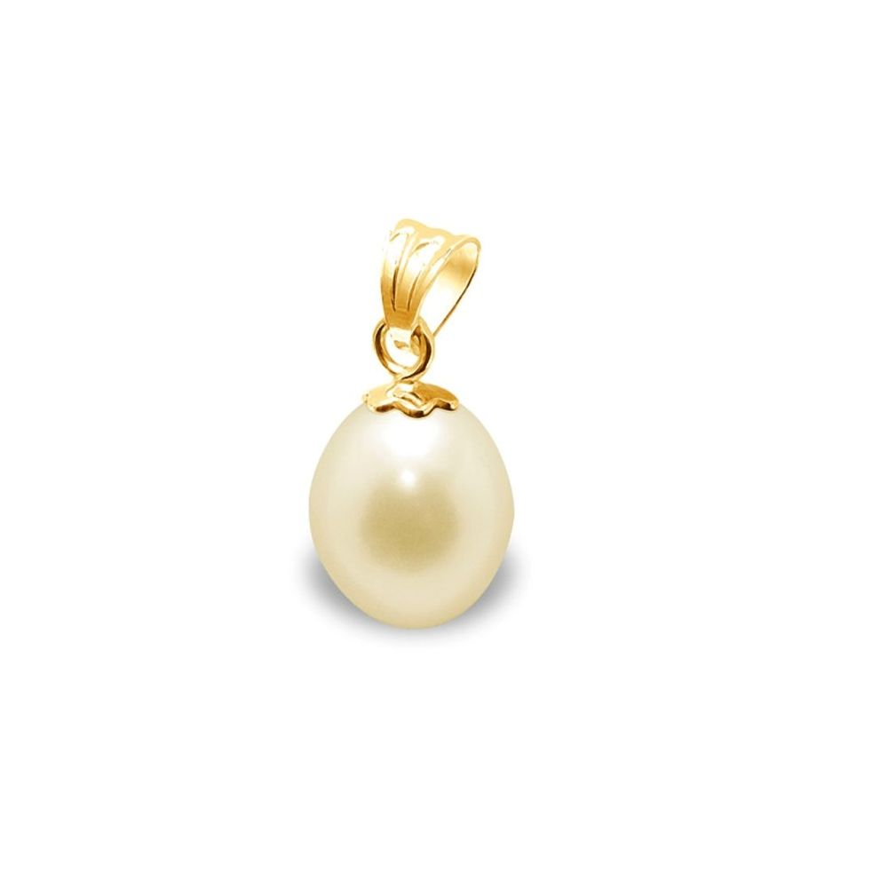 Gold Freshwater Pearl Pendant and Yellow Gold 750/1000