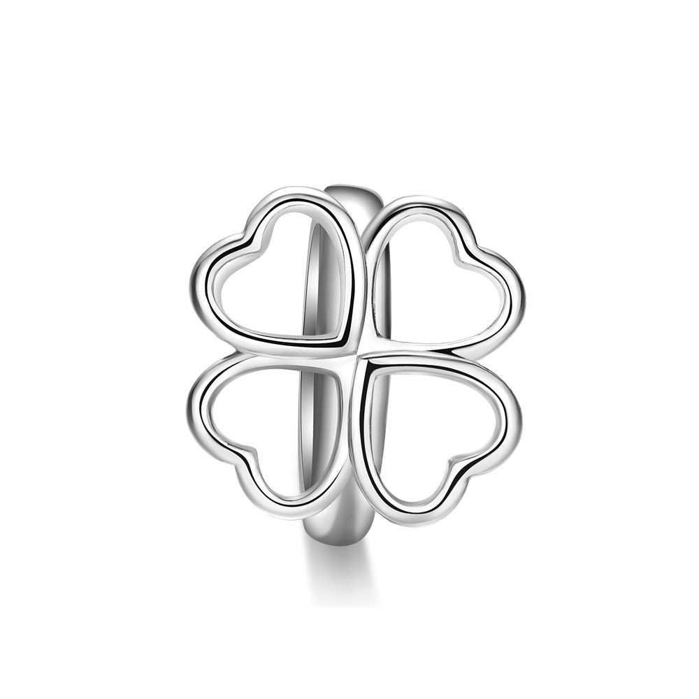 Clover Charms Beads Stainless Steel