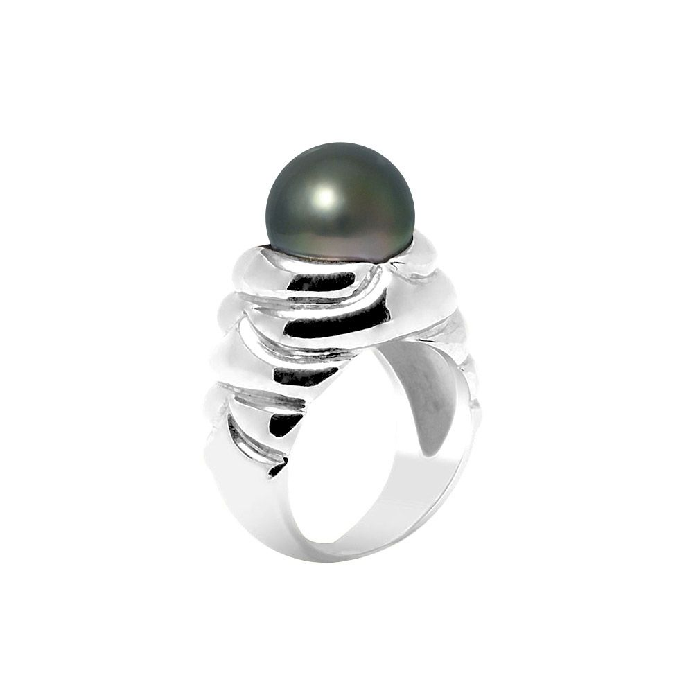 Tahitian Pearl Ring 10-11 mm and Silver 925/1000