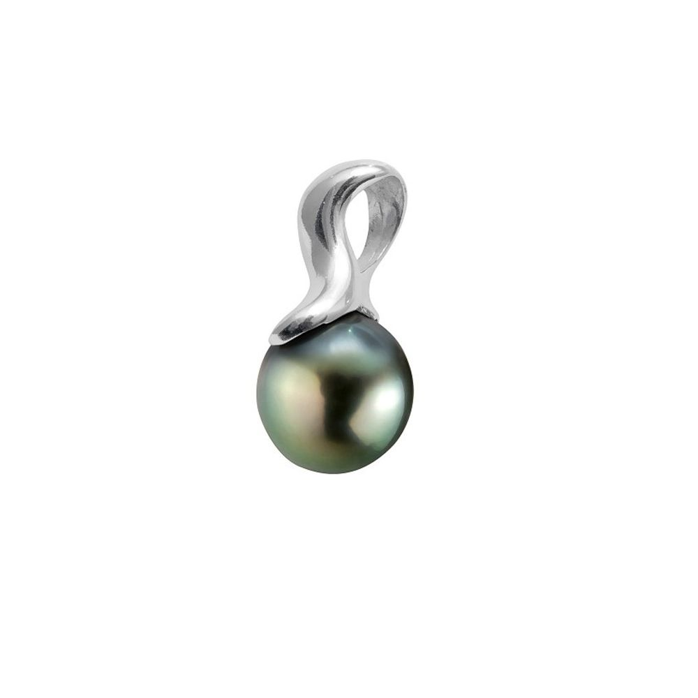 Black Tahitian Pearl Pendant and Sterling Silver 925/1000