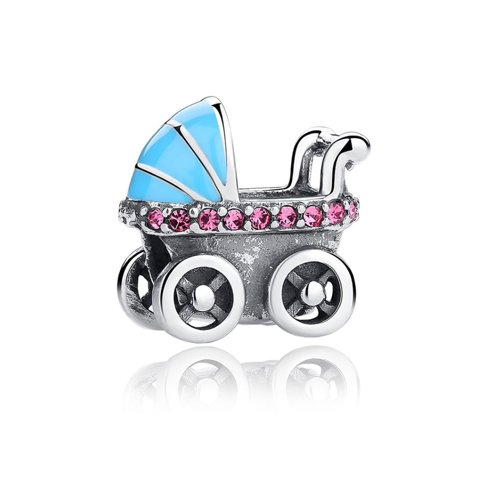 925 Silver Baby Buggy Charms bead