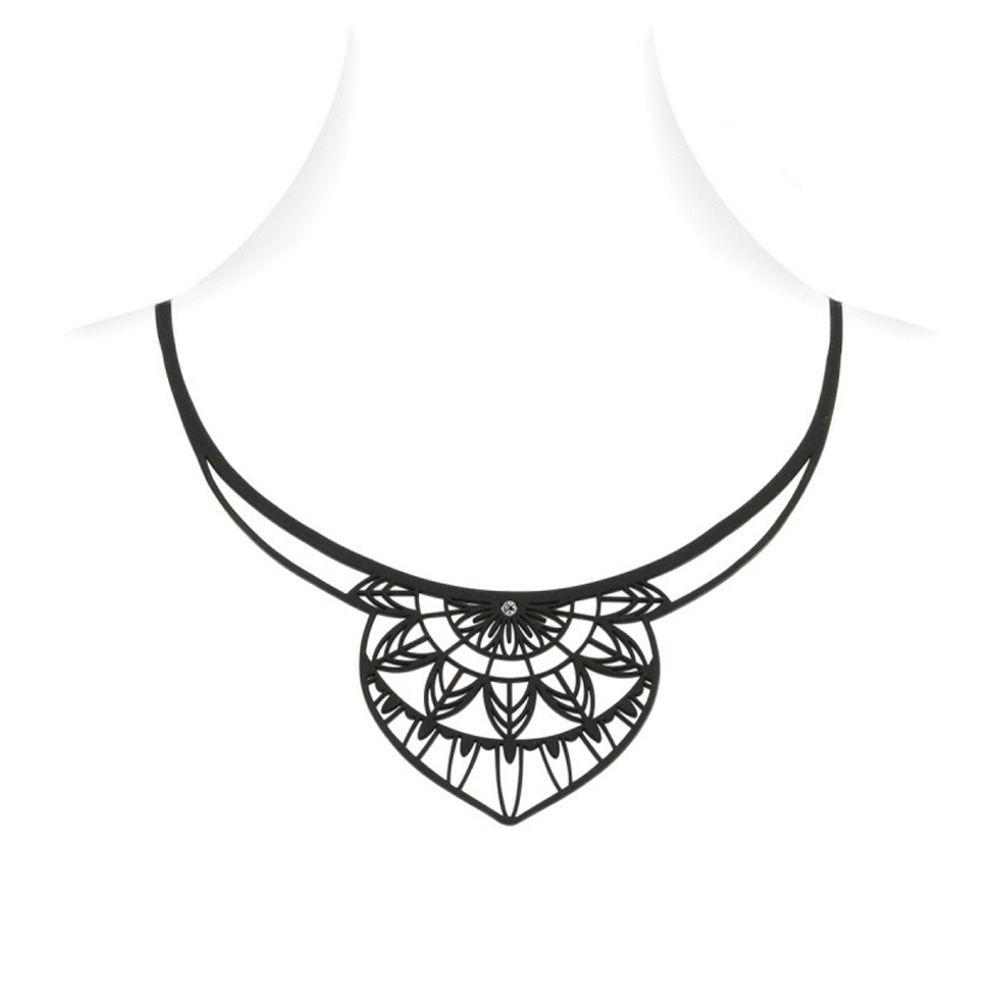 Black Silicone Gum India Necklace Effect Tatto