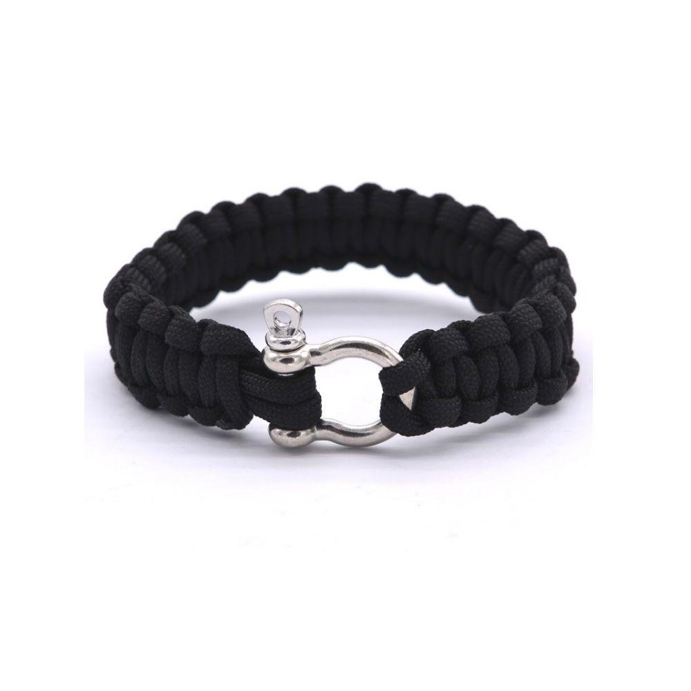 Black rope Wire Survival Bracelet