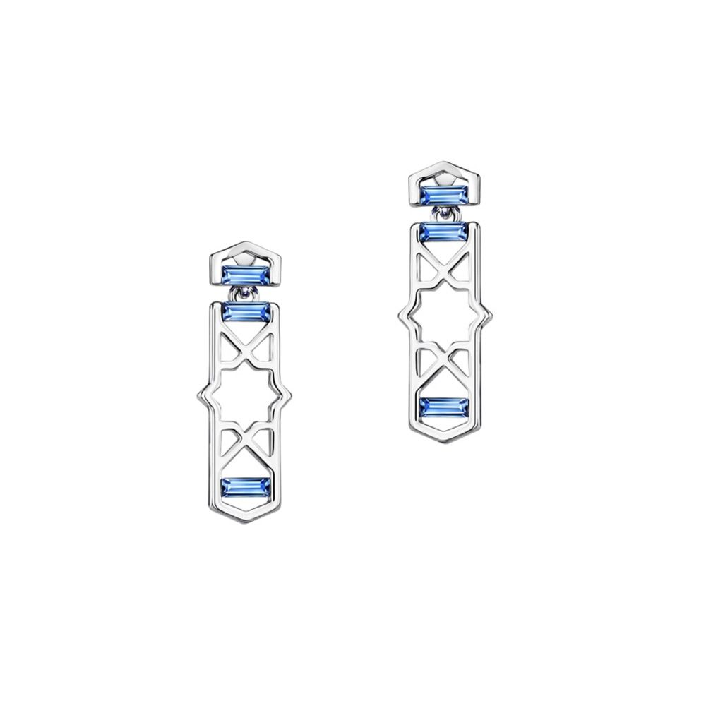 Swarovski - Blue Swarovski Crystal Elements Design Earrings