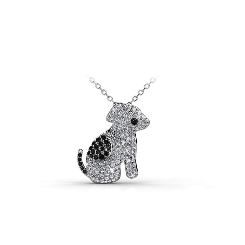 Swarovski - Black and White Crystal from Swarovski Dog Pendant