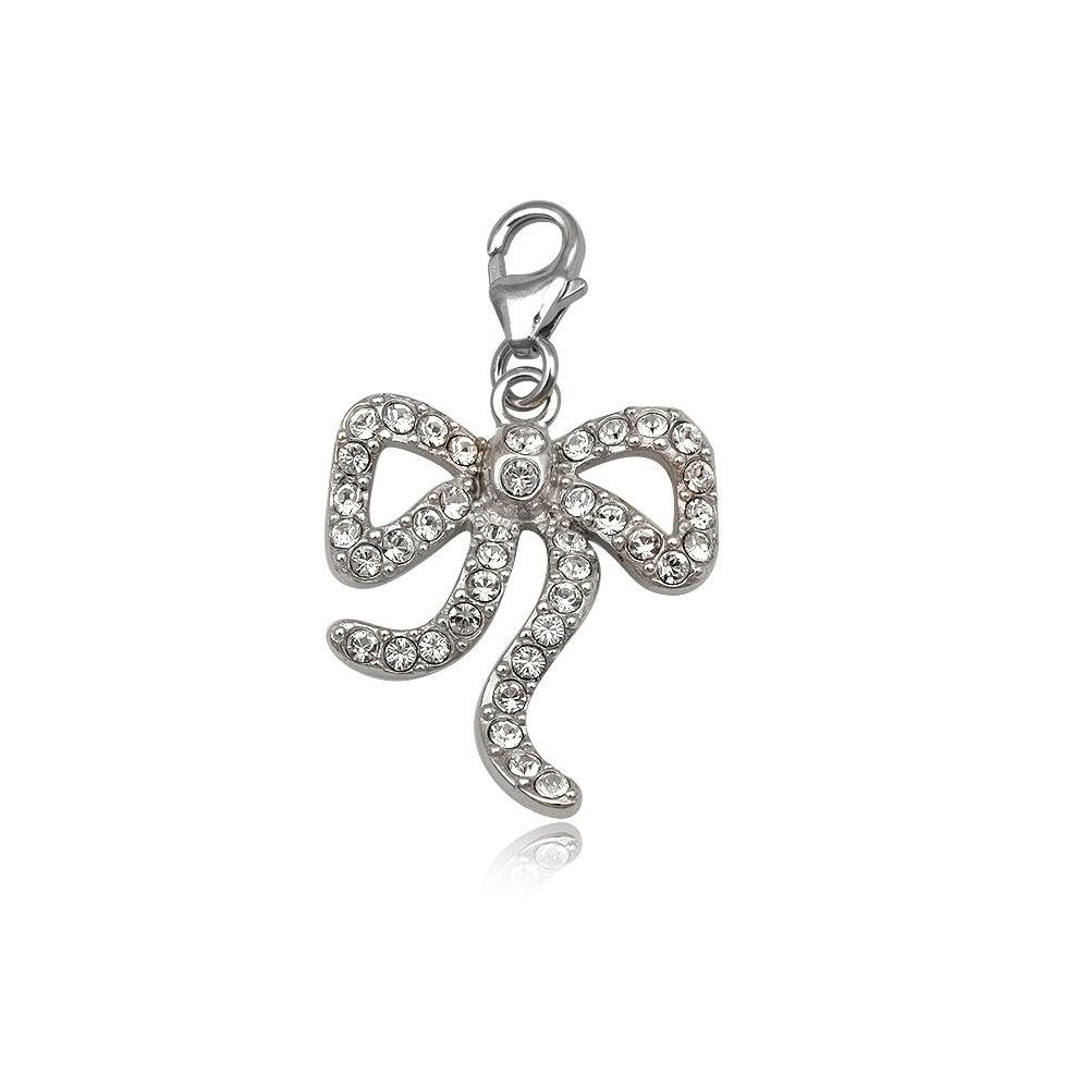 925 Silver and white crystal Beautiful knew Charm's