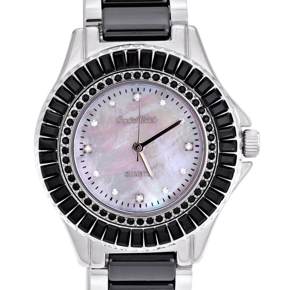 Swarovski - Ceramic watch with black Swarovski Crystal Elements