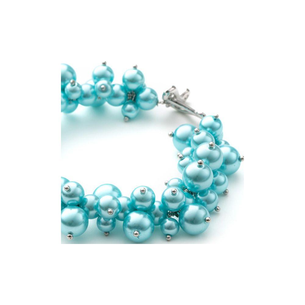 Blue Sky Multi Pearls and Rhodium Plated Bracelet