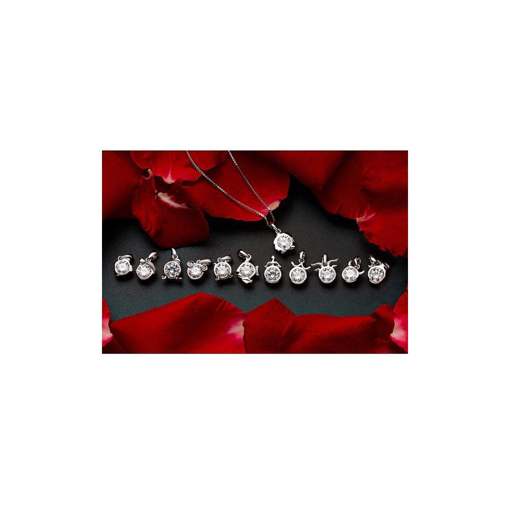 Swarovski - White Swarovski Zirconia Crystal Libra Pendant and 925 Sterling Silver