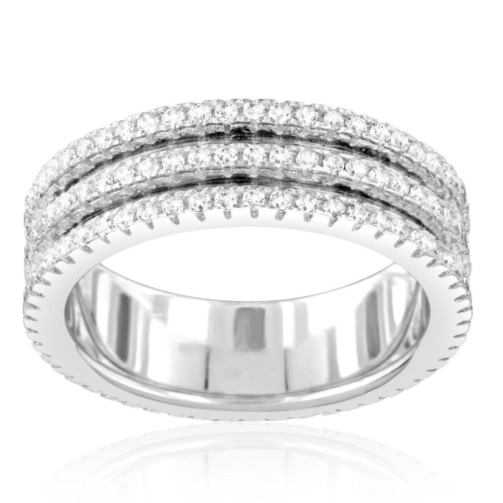 Swarovski - 156 White Swarovski Crystal Zirconia Ring and 925 Silver