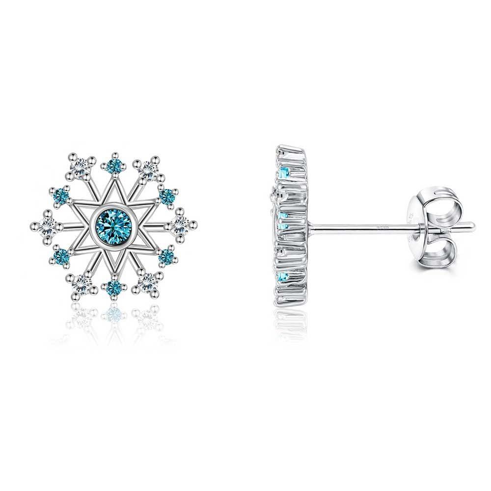 Swarovski - White And Blue Swarovski Crystal Snowflake Women's's Set