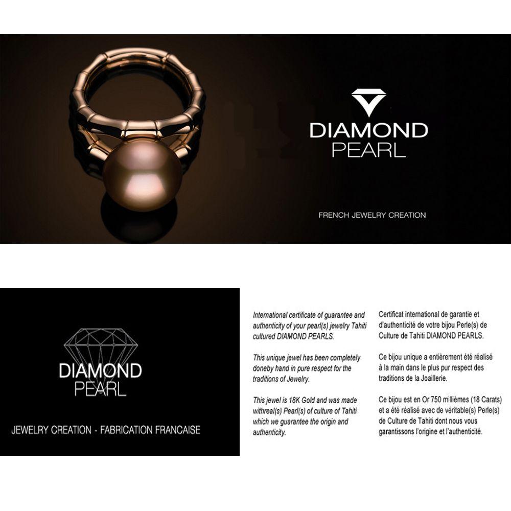 Black Tahitian Pearl Pendant and Yellow Gold 375/1000