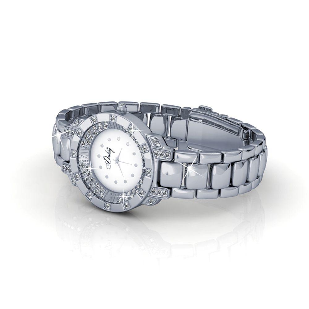 Swarovski - White Stainless Steel Watch with Swarovski Elements Crystals