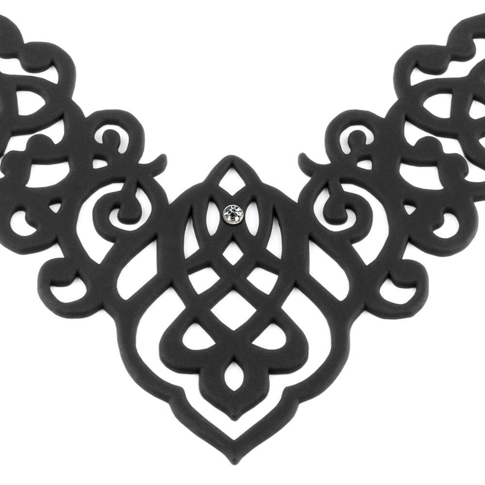 Black Silicone Gum Arabesque Necklace Effect Tatto