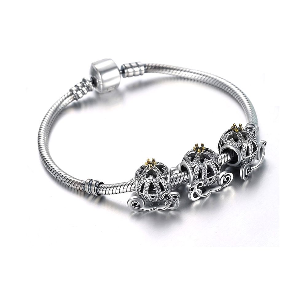 925 Silver Carriage Charms Bead