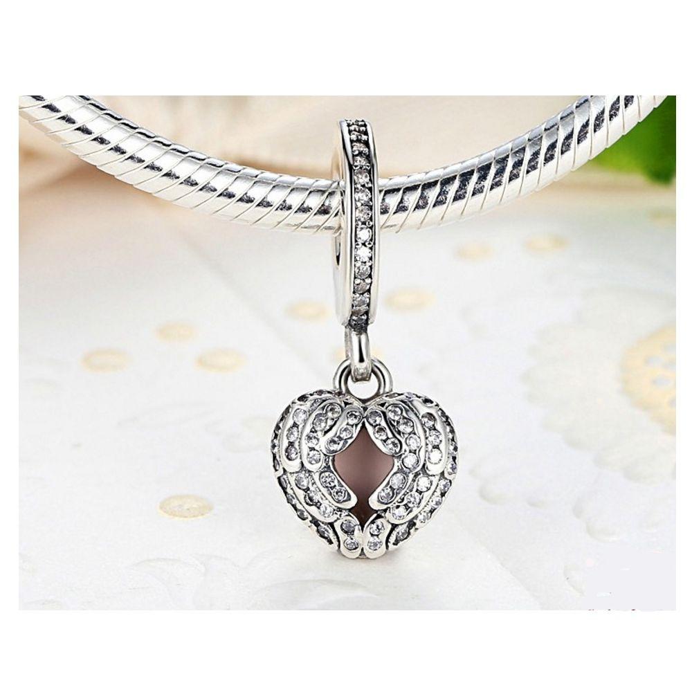 925 Silver Heart Pendant Charms bead