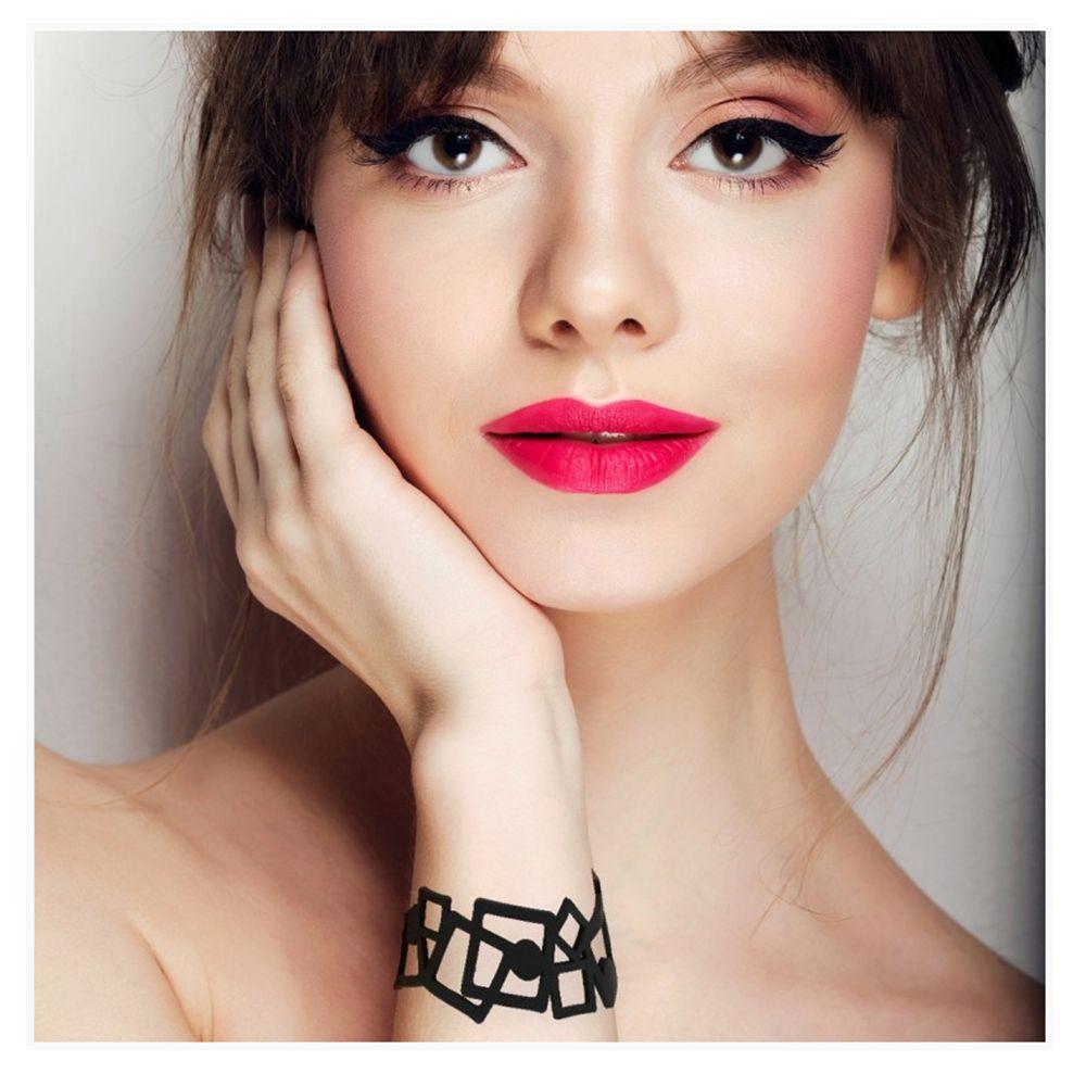 Black Silicone Gum Geometric Bracelet Effect Tatto