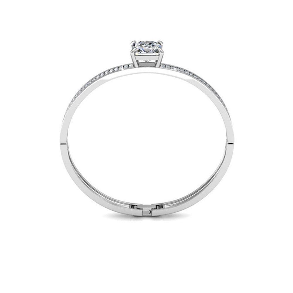 Swarovski - Bangle Bracelet made with a White Crystal from Swarovski