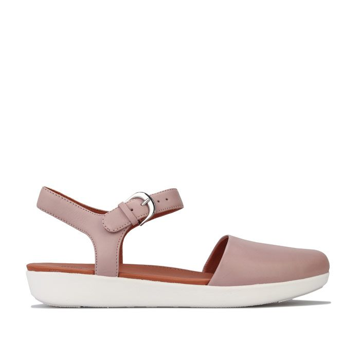 Women's Fit Flop Cova II Leather Back Strap Sandals in Beige