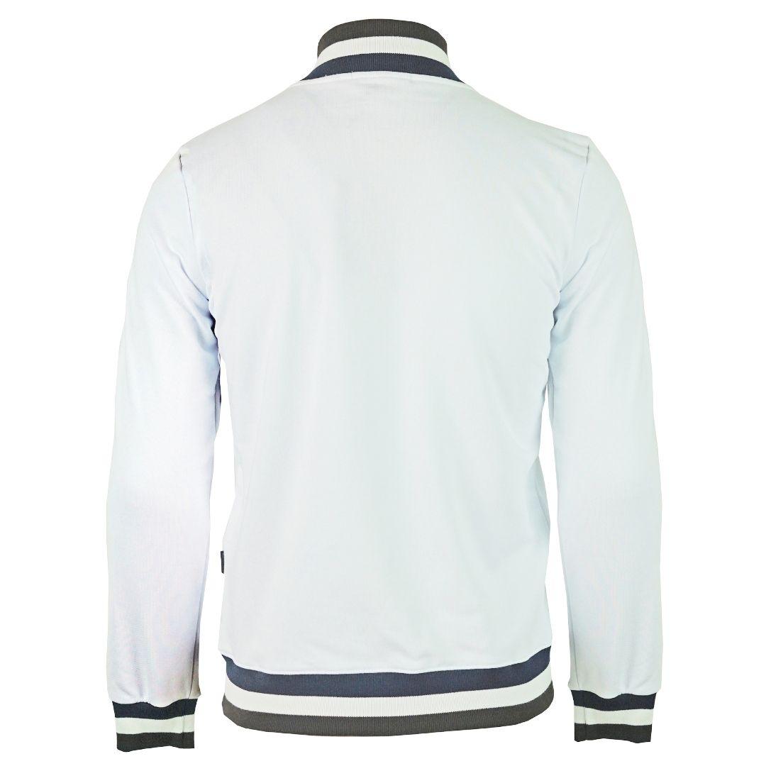 Aquascutum A Logo Zip Sweater White Jacket