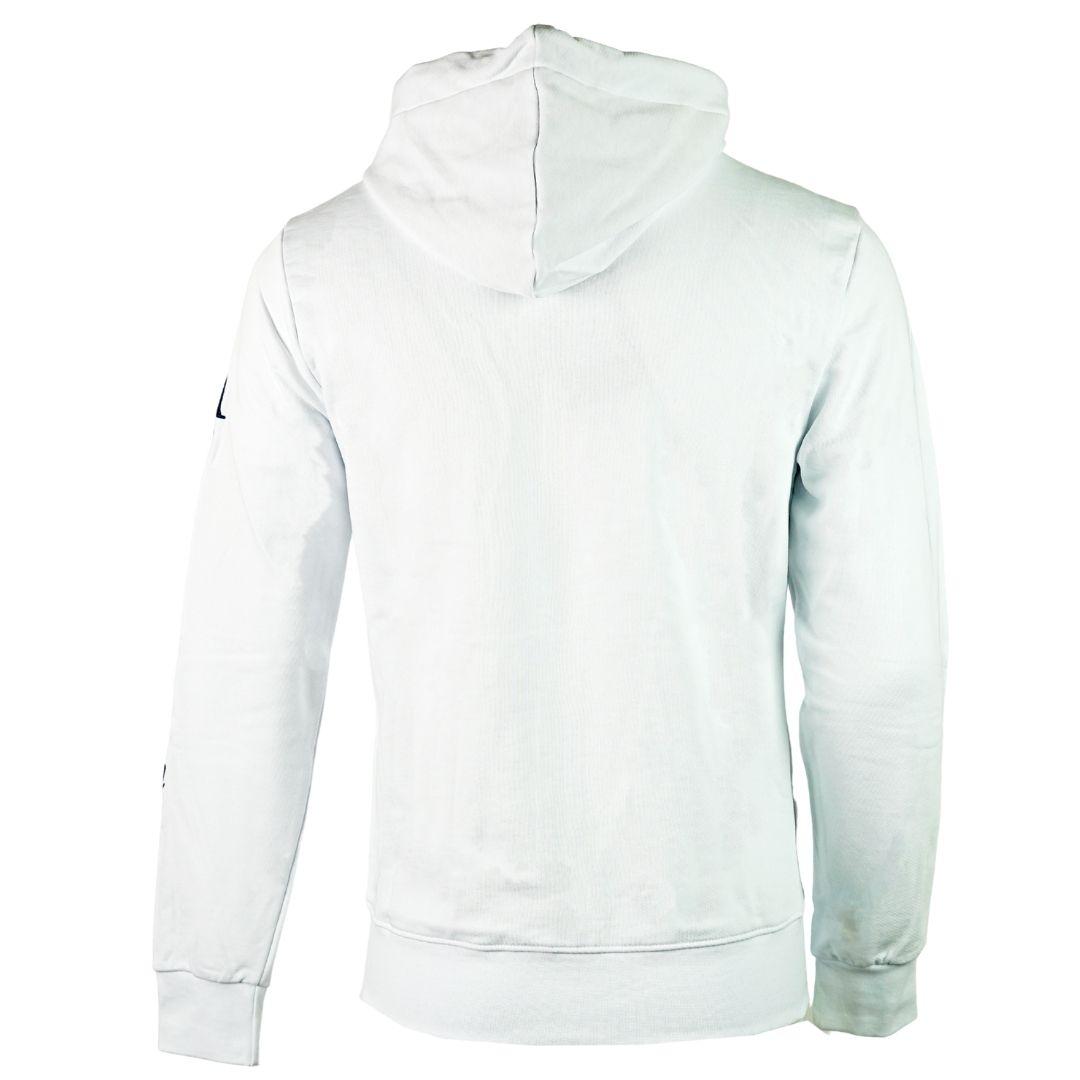 Aquascutum Waterfield Logo White Zip Hoodie