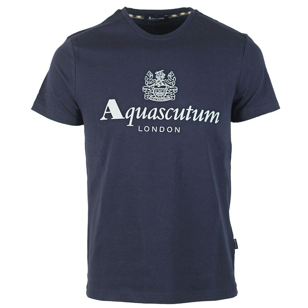 Aquascutum Griffin Logo Navy T-Shirt
