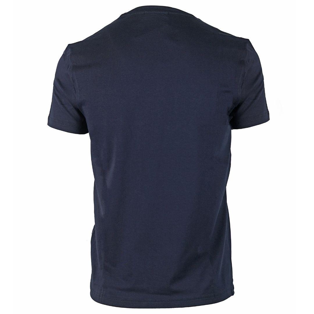 Aquascutum Sleeve Logo Navy T-Shirt