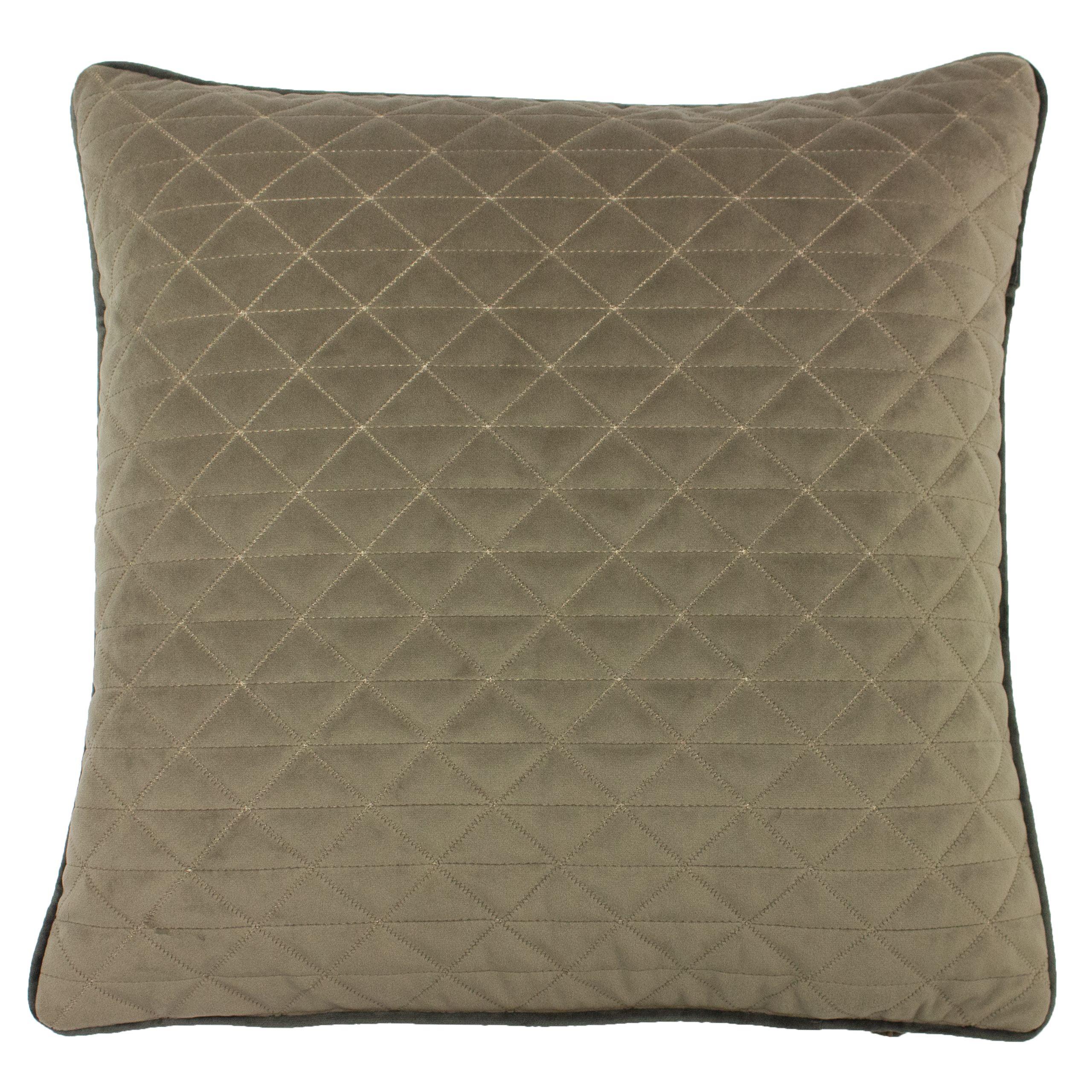Quartz 45X45 Poly Cushion Taupe/Cha