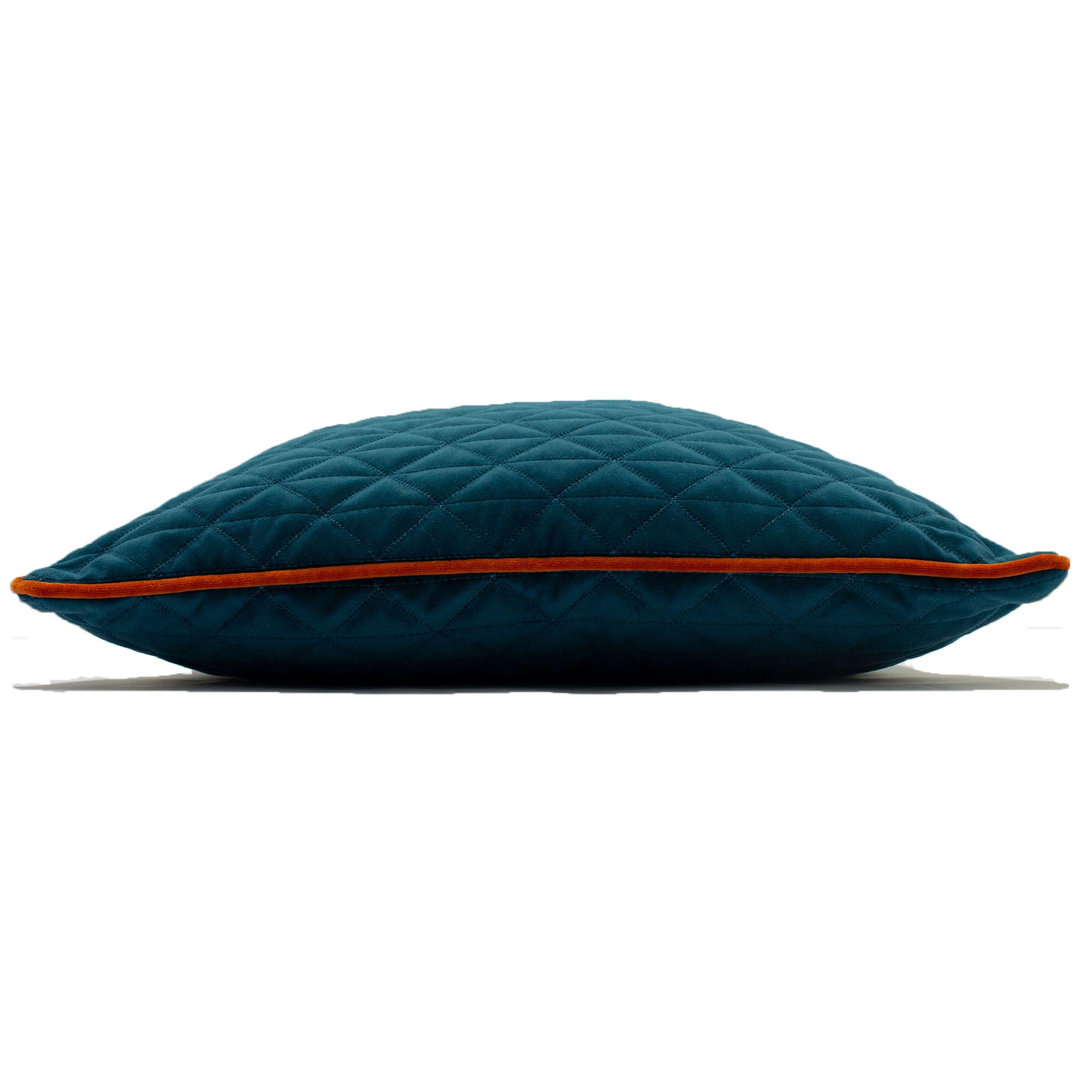 Quartz 45X45 Poly Cushion Teal/Jaff