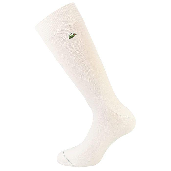 Men's Lacoste Stretch Cotton Socks in White