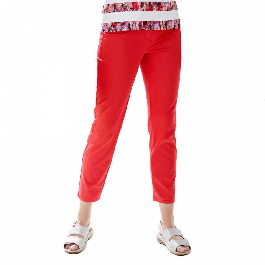 Cropped Red Trouser