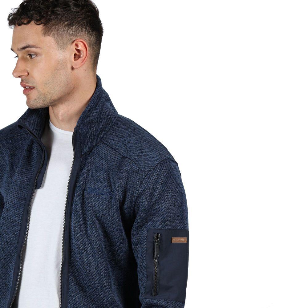 Regatta Mens Garret Polyester Full Zip Outdoor Fleece Jacket