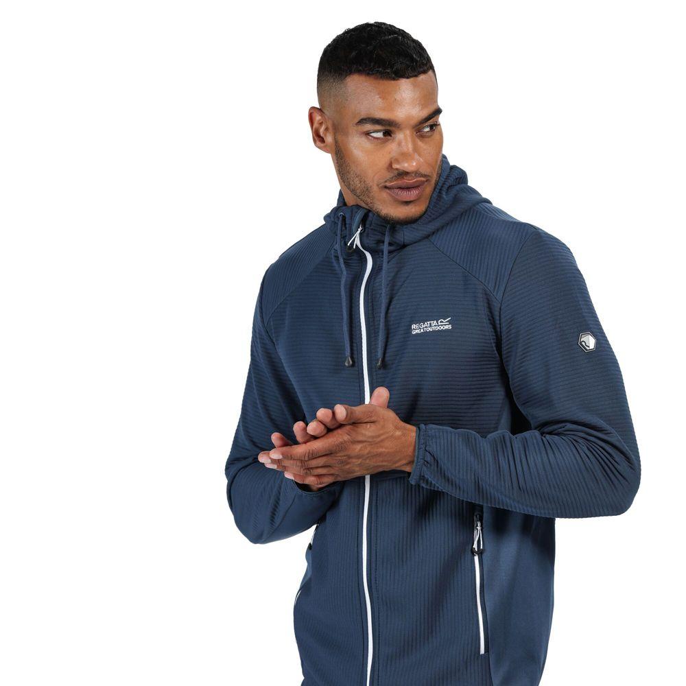 Regatta Mens Terota Polyester Full Zip Hooded Sweater