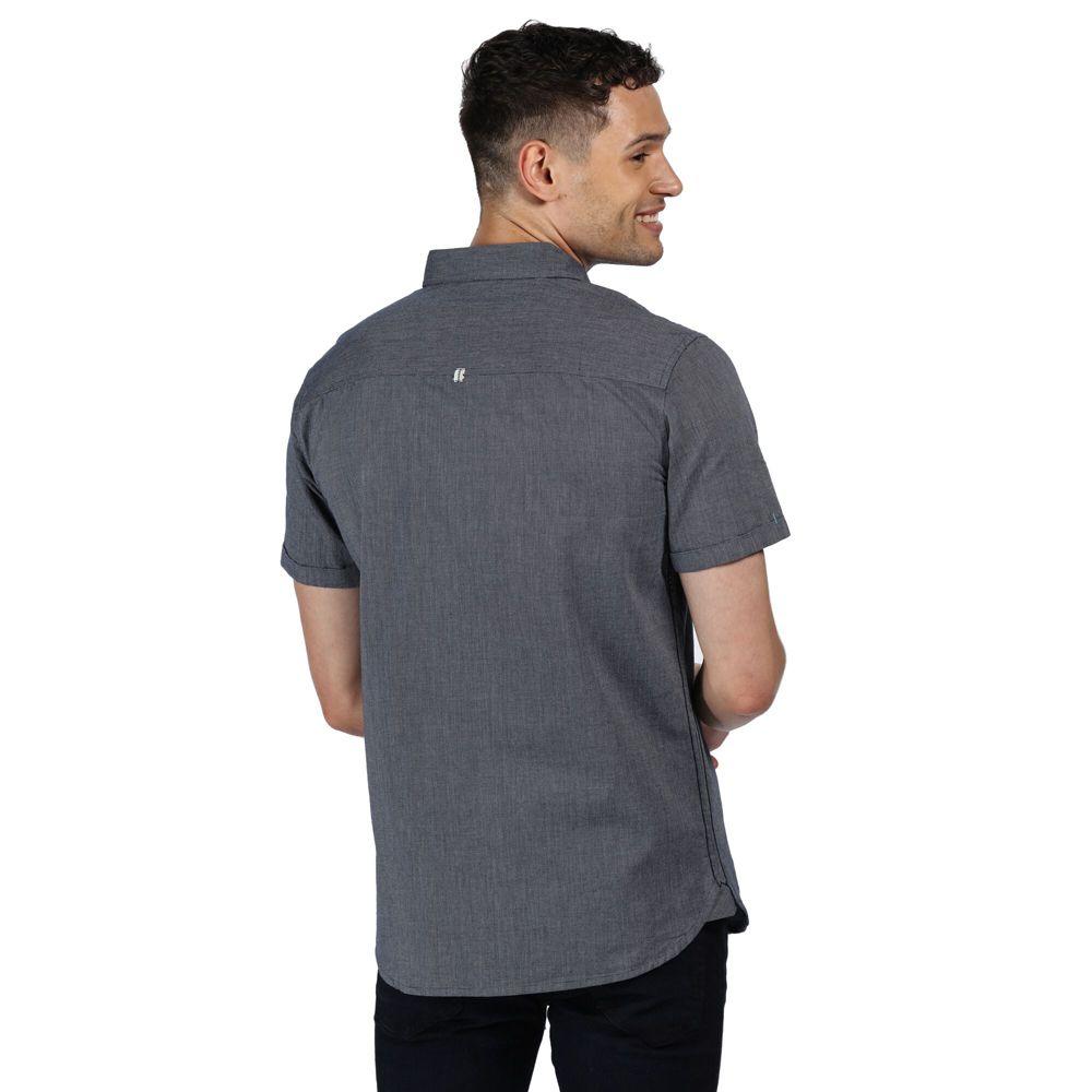 Regatta Mens Damari Cotton Oxford Short Sleeve Shirt