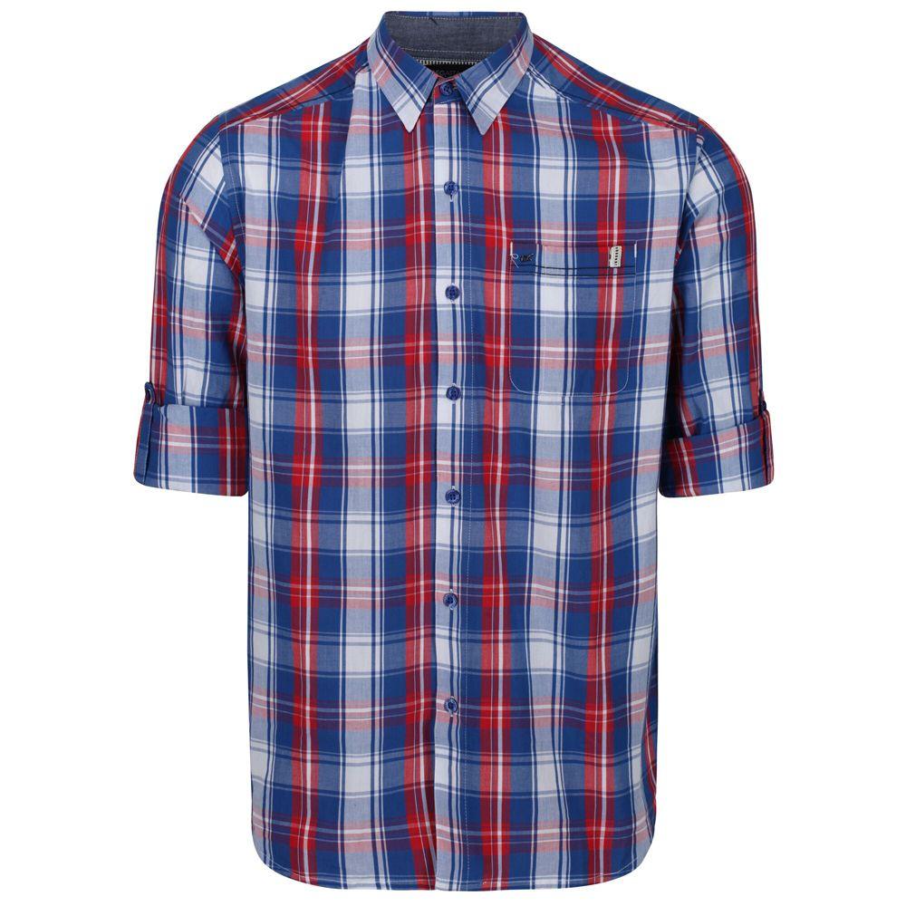 Regatta Mens Banning Cotton Oxford Long Sleeve Shirt