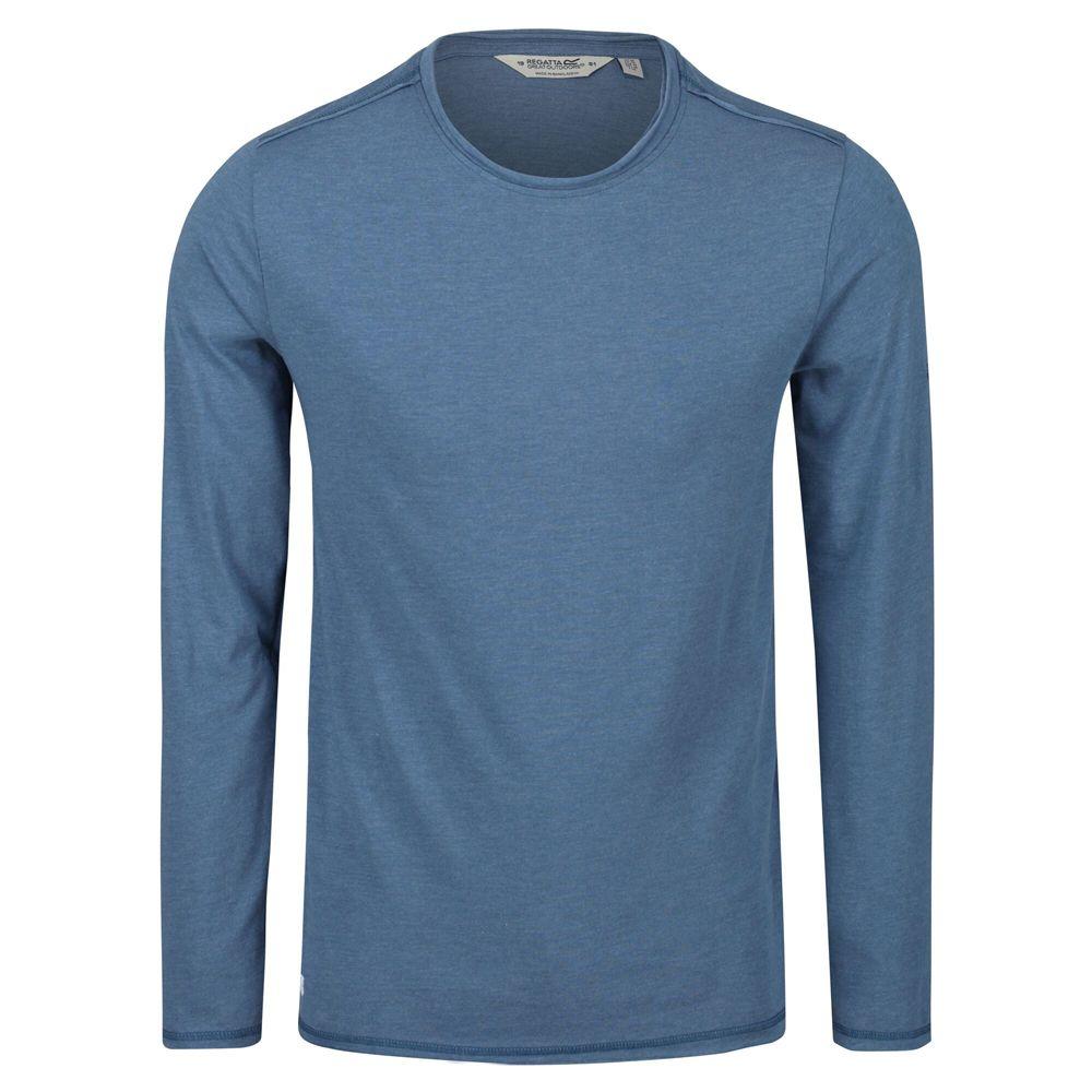 Regatta Mens Karter II Coolweave Cotton Long Sleeve T Shirt