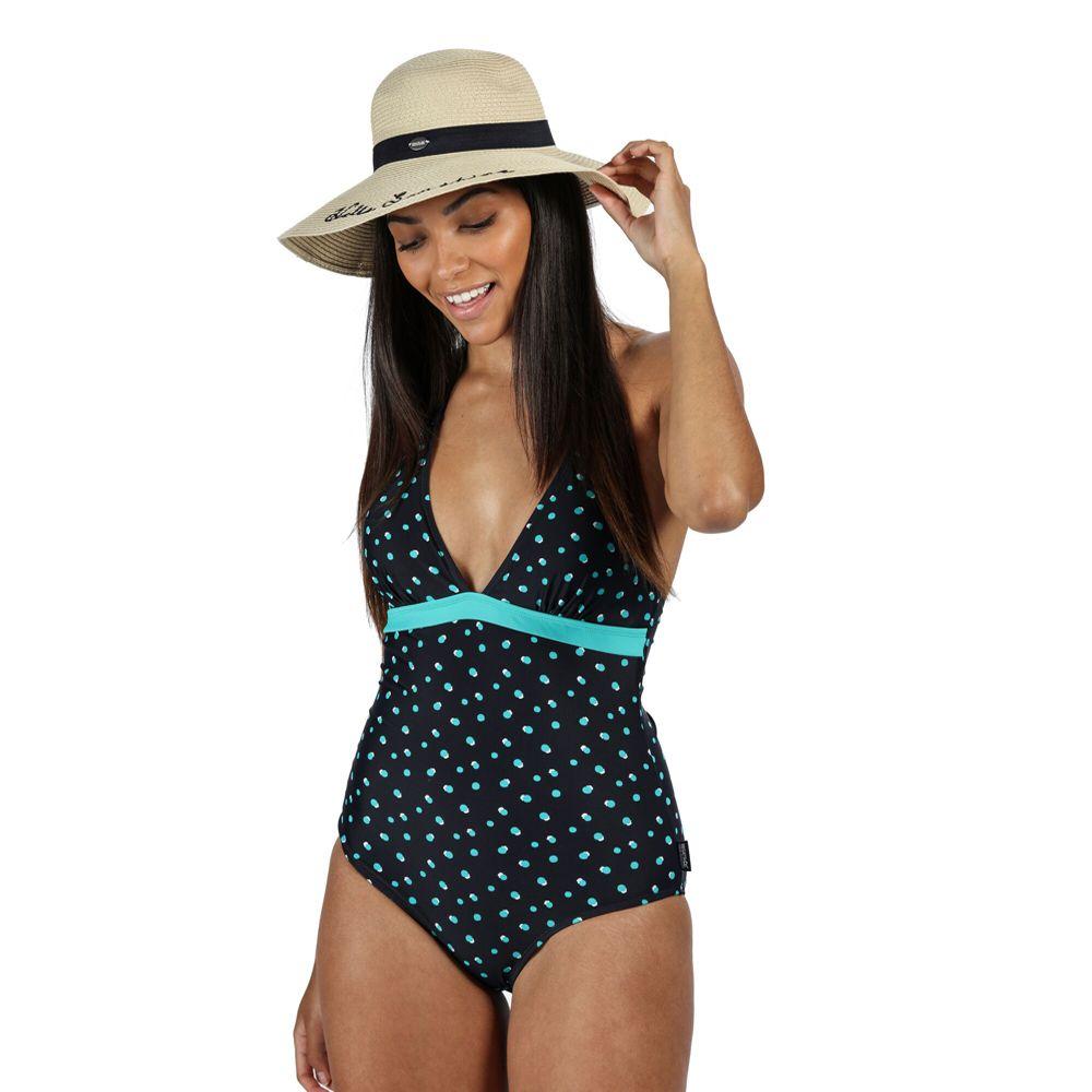 Regatta Womens Flavia Halter Neck Swimsuit Swimming Costume