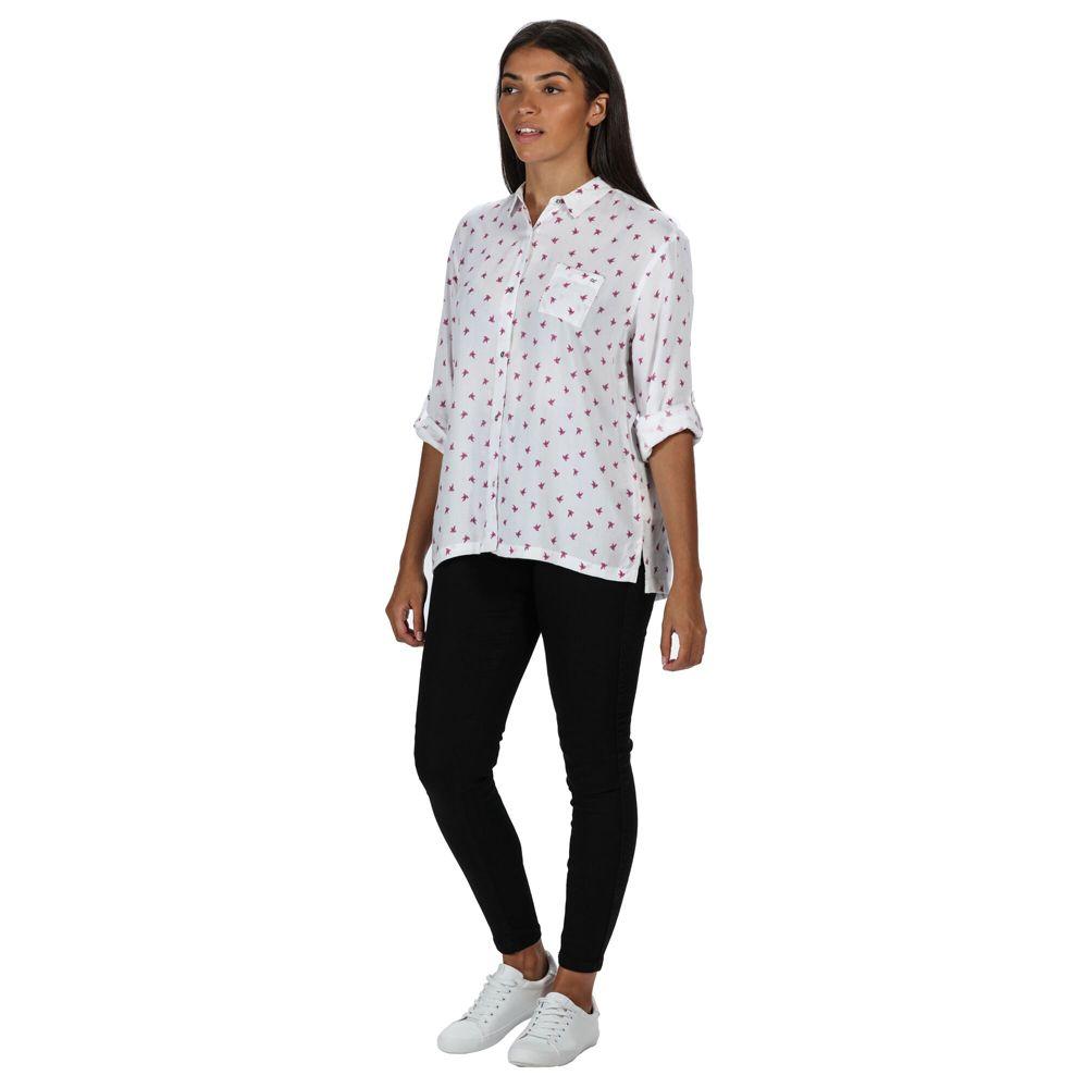 Regatta Womens Meera Coolweave Cotton Long Sleeve Shirt