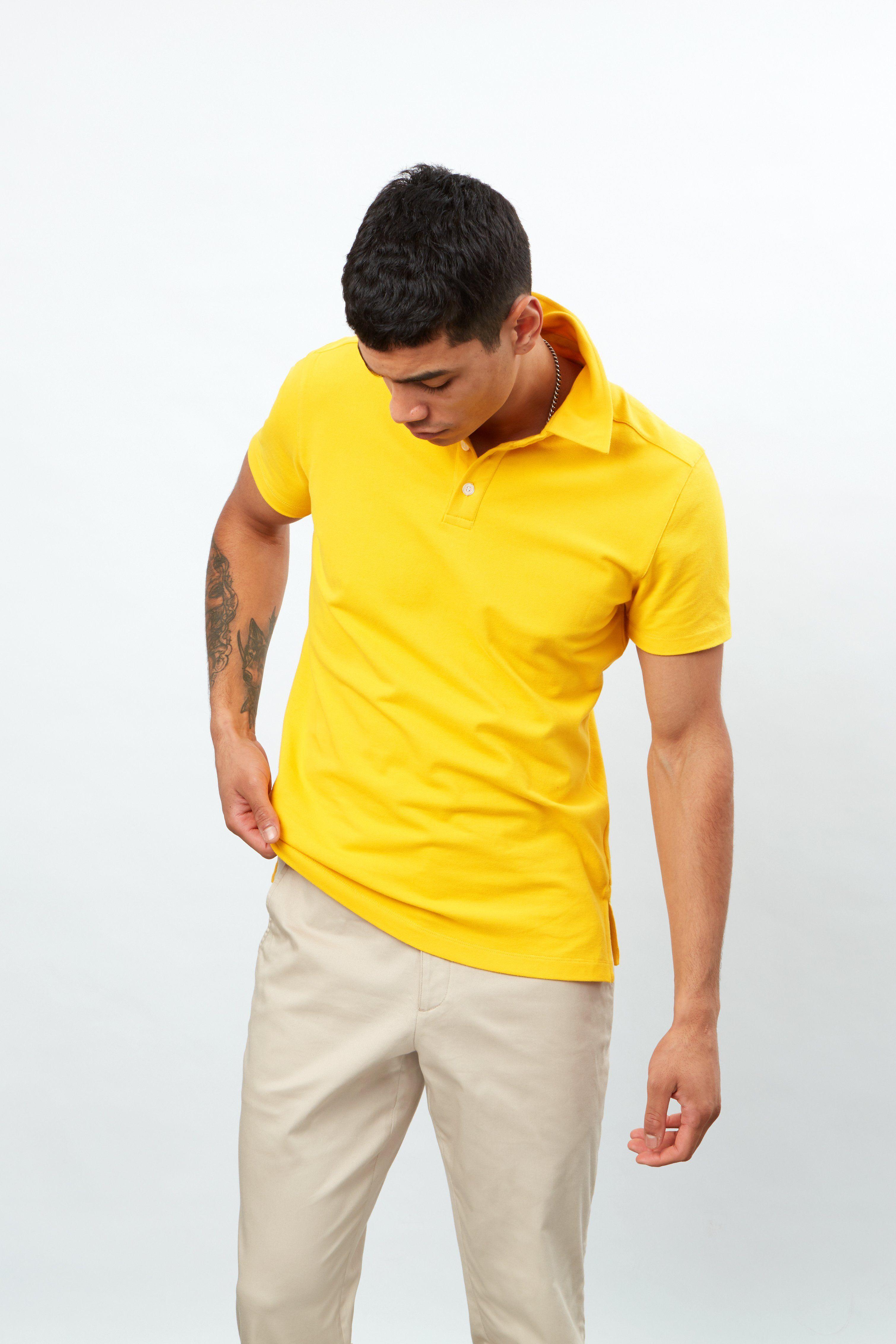 Short Sleeve 3 Button Pique Polo