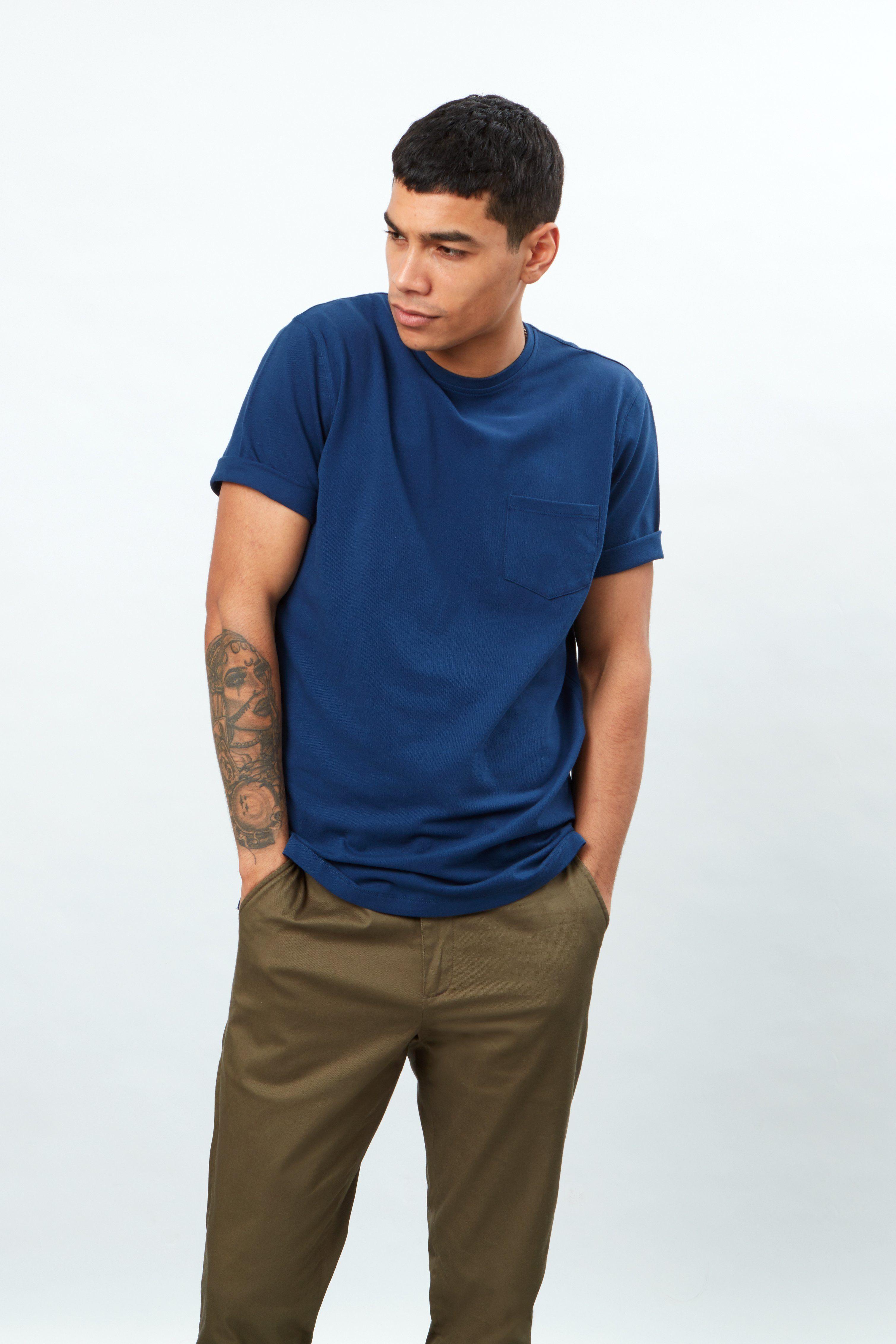 Short Sleeve Crew Neck Pique T-Shirt