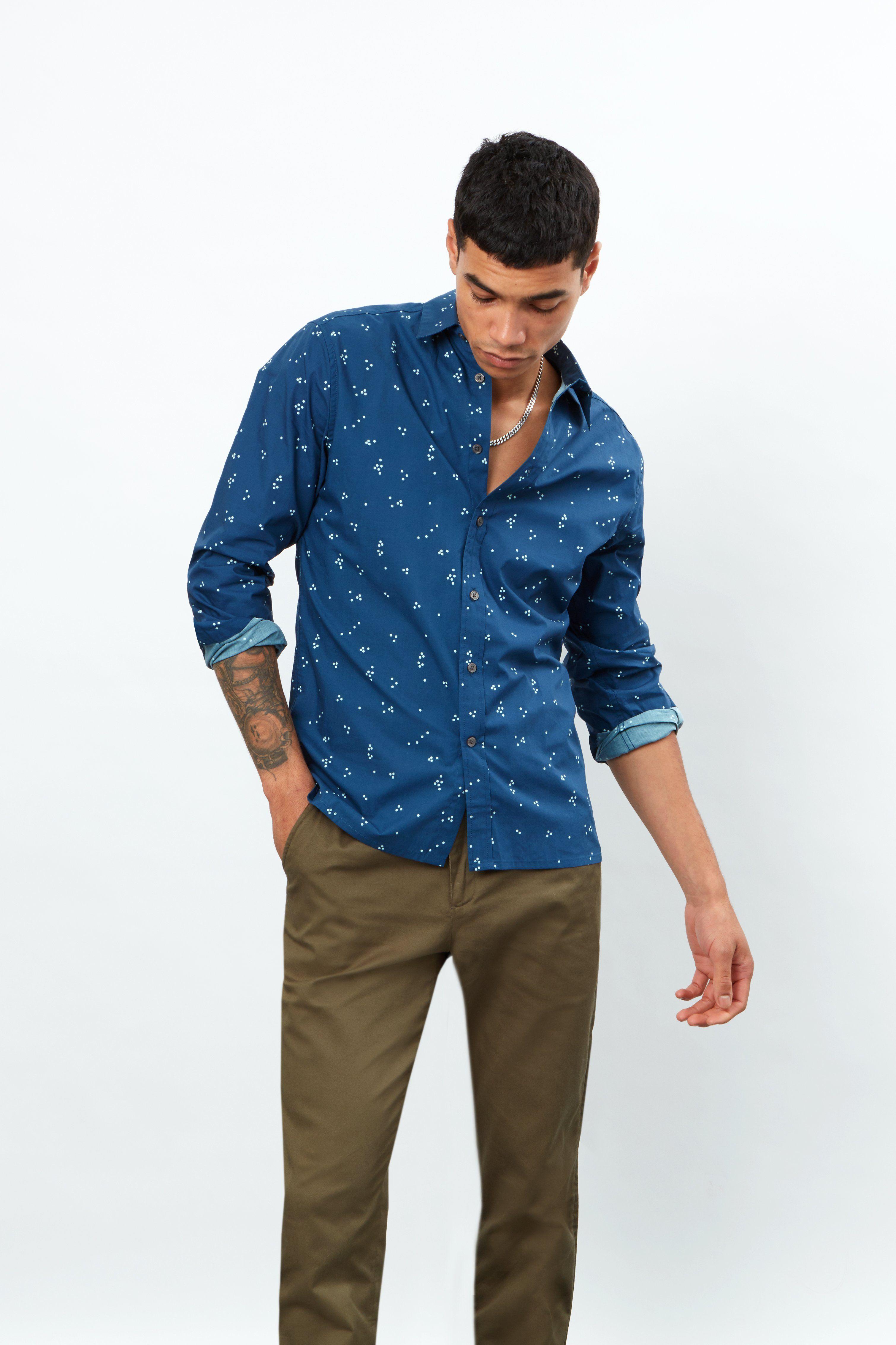 Random Dots Short Sleeve Shirt