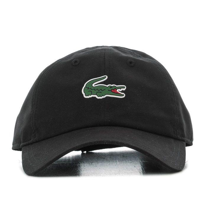 Accessories Lacoste Crocodile Baseball Cap in Black