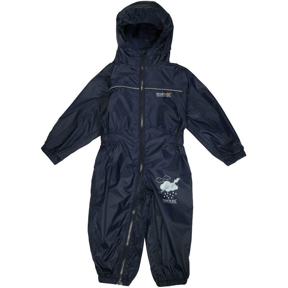 Regatta Boys Puddle IV Full Zip Lightweight Waterproof Baby Bodysuit